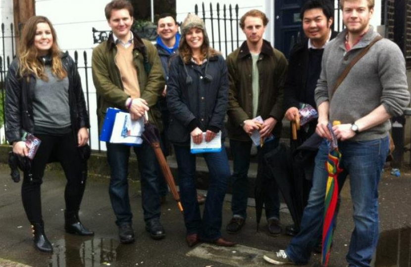 Islington Conservatives campaigning in St Peter's Ward during London Elections